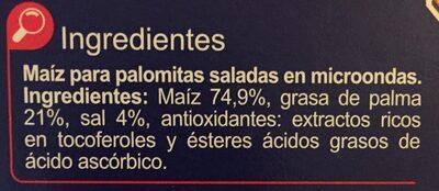 Palomitas Saladas - Ingredients