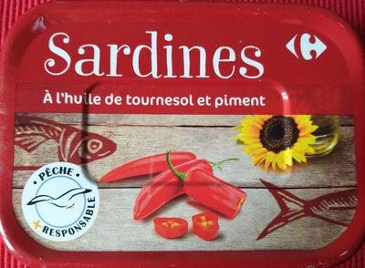 Sardines à l'huile de tournesol et piment - Product - fr