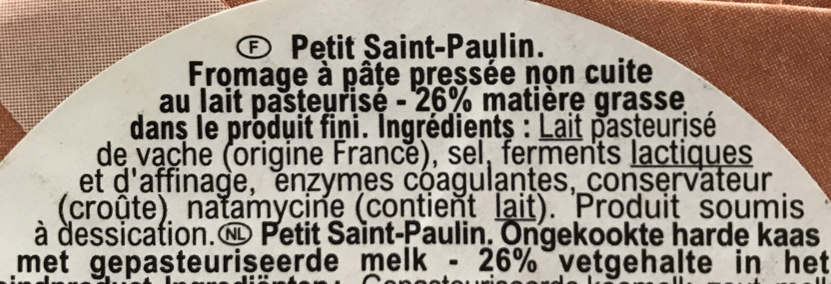 Le Péché des Bons Pères - Ingredients - fr