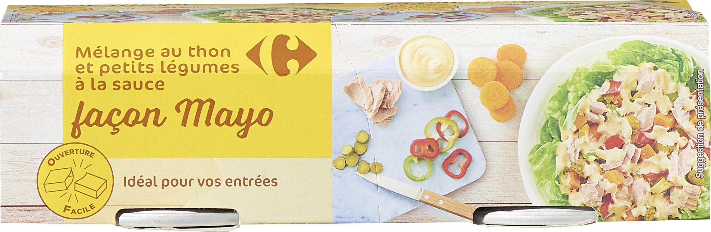 Mélange au thon et petits légumes  à la sauce façon Mayo - Produit - fr