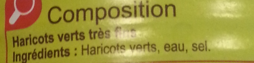Haricots verts (très fins) - Ingredients - fr