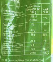 Pasta Coquillettes - Voedingswaarden - fr