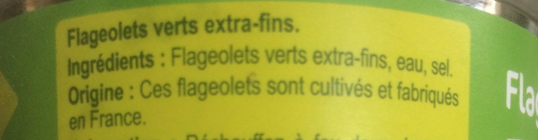 Flageolets Extra-Fins - Ingredients