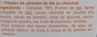 Pétales de blé au chocolat - Ingrédients