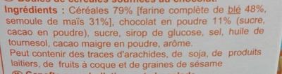 Boules de céréales au goût chocolat - Ingredienti - fr