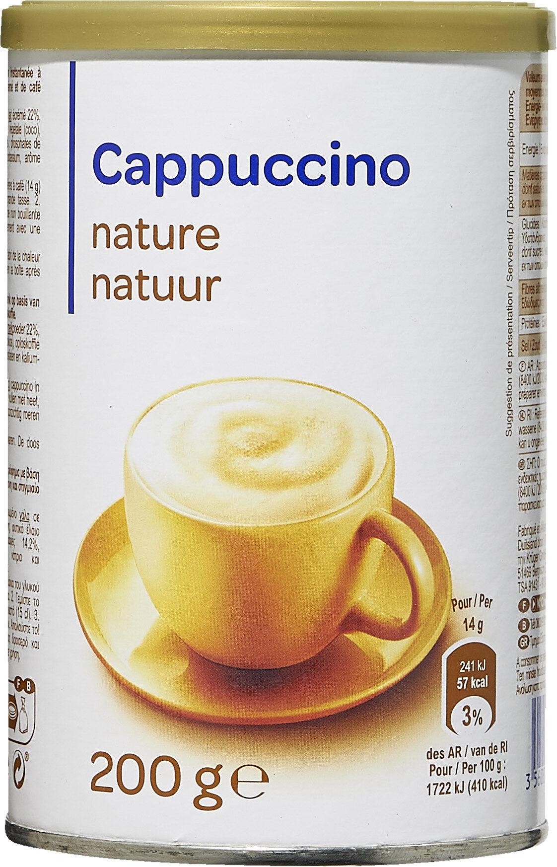 Cappuccino nature - Produit - fr