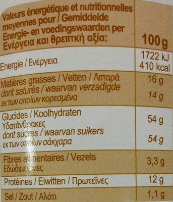 Cappuccino nature - Informations nutritionnelles - fr