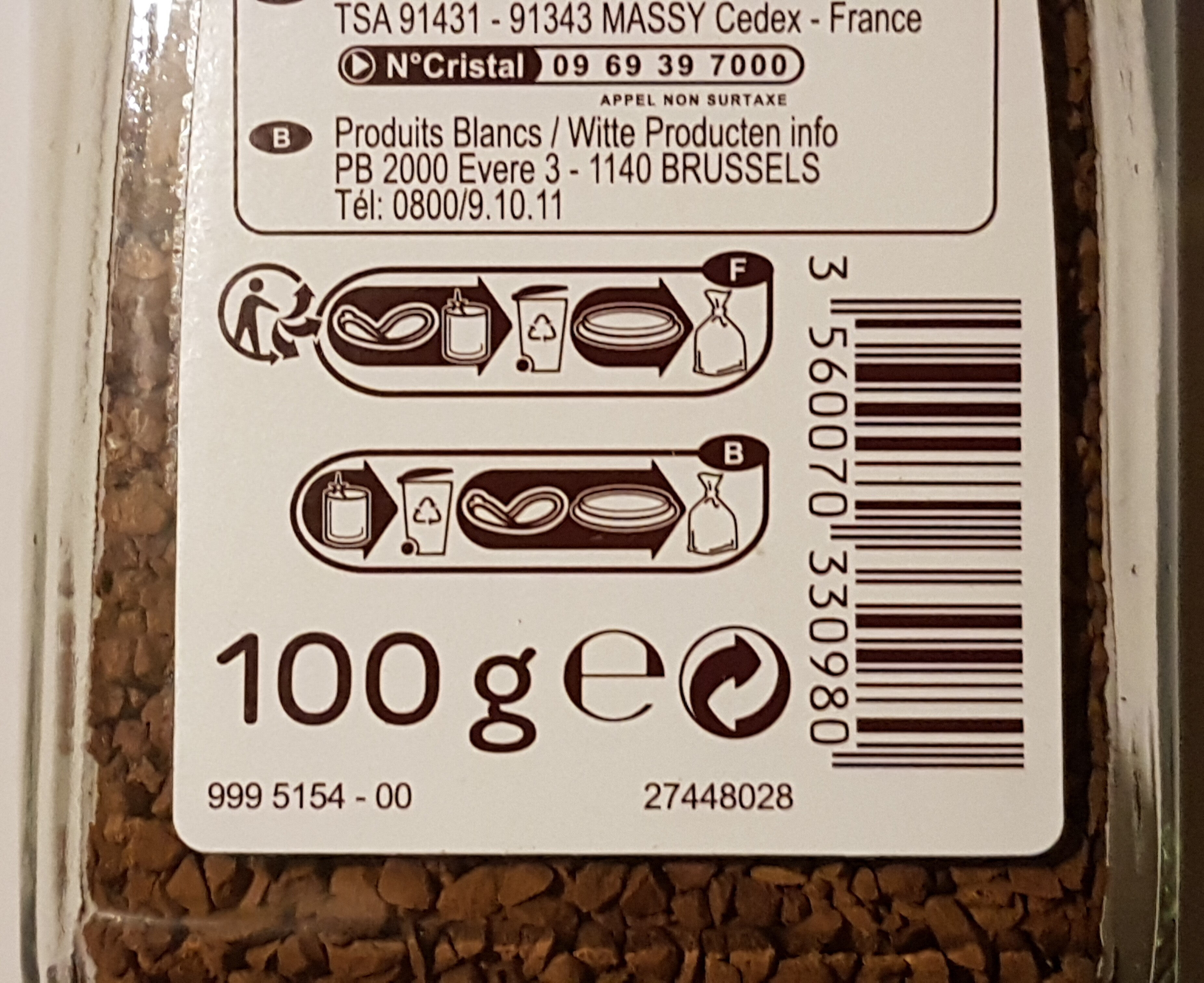 Café filtre - Recycling instructions and/or packaging information - en