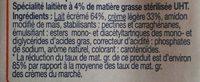 Fluide & légère 4% - Ingrediënten - fr