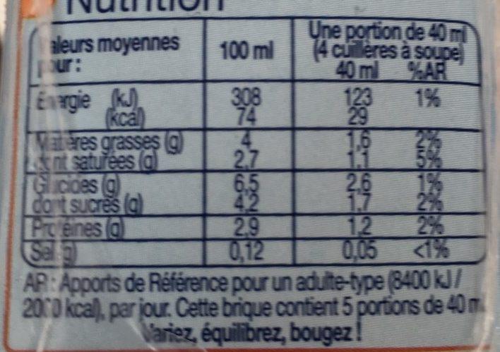Fluide & légère 4% - Voedingswaarden - fr
