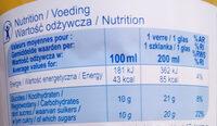 Orange 100% Fruit Pressé - Wartości odżywcze - pl