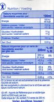Pommejus à base de concentré - Wartości odżywcze - fr