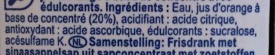 Orange  boisson - Ingredientes