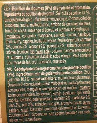 Bouillon Saveur Légumes Dégraissé* - Ingredientes - fr