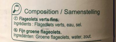 Flageolets extra fins - Ingrédients - fr