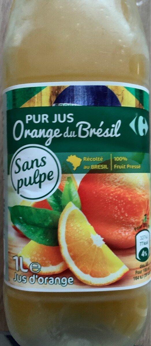 PUR JUS Orange pressé du Brésil - Produit - fr