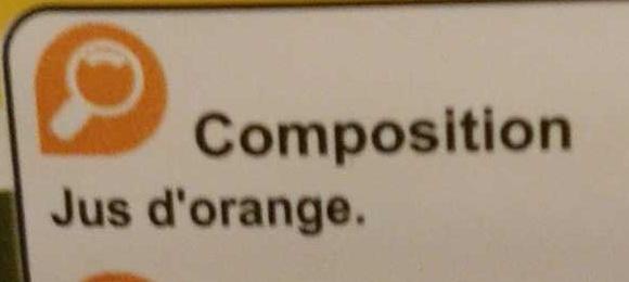PUR JUS Orange pressé du Brésil - Ingrédients - fr