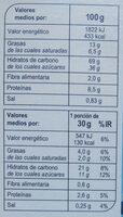X'trem leche - Informació nutricional - es