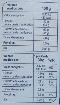 X'trem leche - Nutrition facts