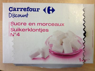 Sucre en morceaux N°4 - 1 kg - Ingrédients - fr