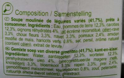 Mouliné de légumes variés - Ingredienti - fr