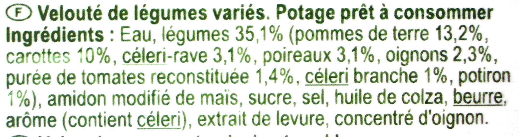 Velouté de légumes variés - Ingredienti - fr