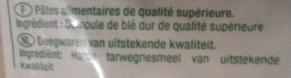 Coquillettes (Al dente 8 mn) - Ingredients - fr