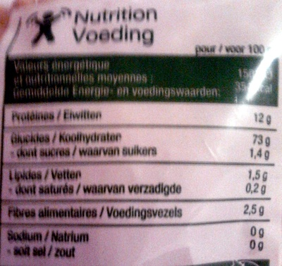 Coquillettes (Al dente 8 mn) - Nutrition facts - fr
