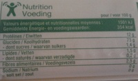 Spaghetti (Al dente 8 mn) - Nutrition facts - fr