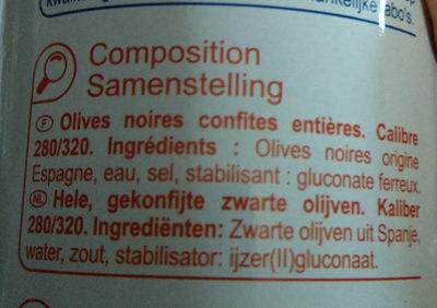 Produits Blancs - Ingrediënten