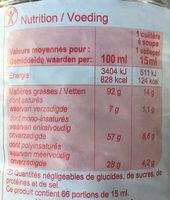 Huile de Colza - Voedingswaarden - fr