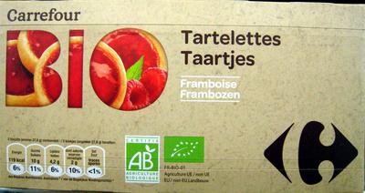 Tartelettes Framboise Bio Carrefour - Produit