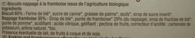 Tartelettes Framboise Bio Carrefour - Ingrédients