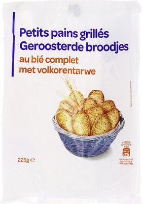 Petits pains grillés au blé complet - Produit - fr