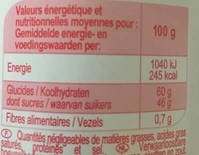 Confiture fraise - Valori nutrizionali - fr