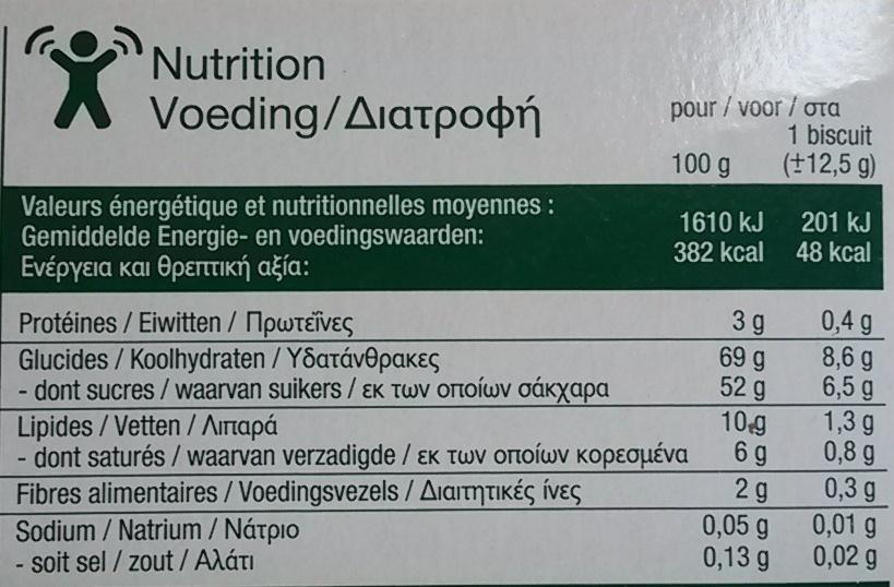 Cake orange - Valori nutrizionali - fr