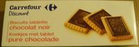 Biscuits tablette chocolat noir - Produit