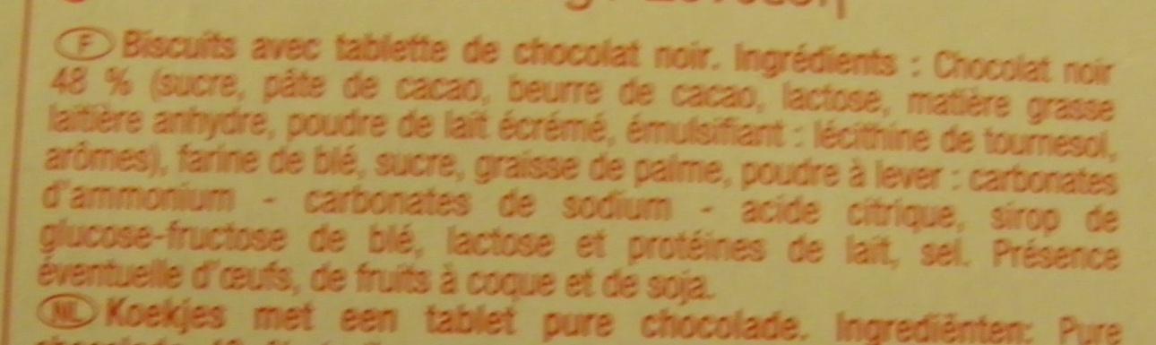 Biscuits tablette chocolat noir - Ingrédients