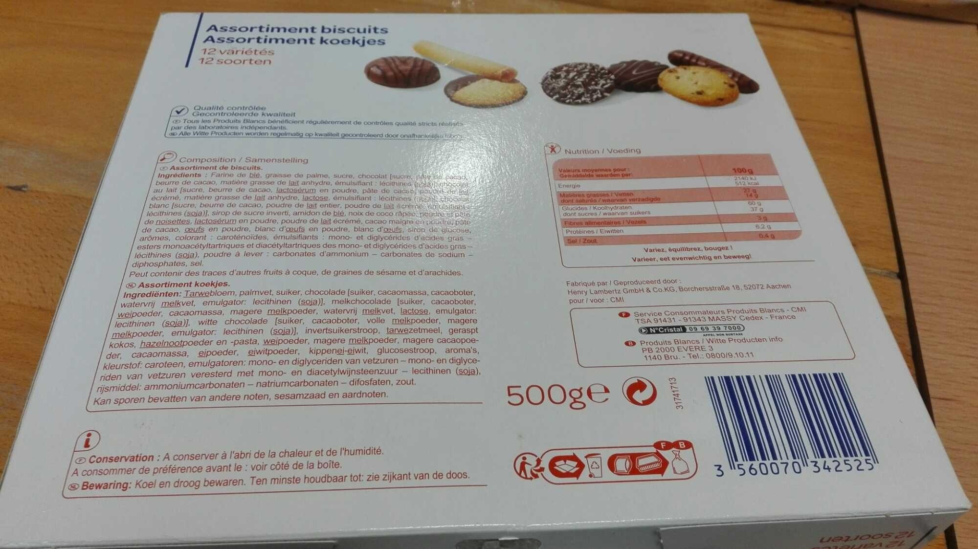 Assortiment de biscuits - Producto