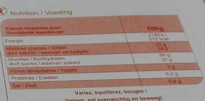 Assortiment de biscuits - Wartości odżywcze - fr