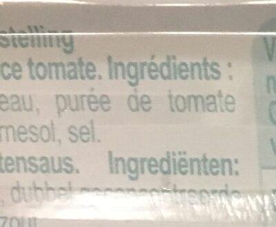 Sardines à La Tomate 125g x3 - Ingredients - fr
