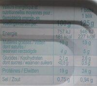 Sardines à La Tomate 125g x3 - Nutrition facts - fr