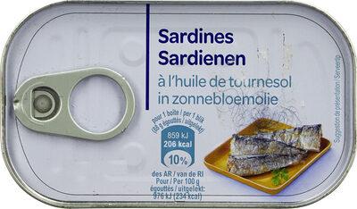 Sardines à l'huile de tournesol (Lot de 3 boîtes 1/4) - Prodotto - fr
