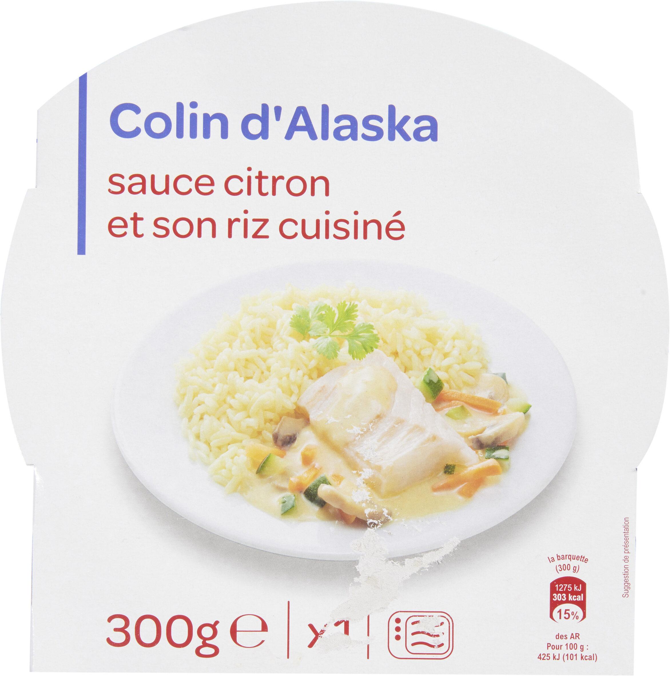 Colin d'Alaska sauce citron et riz safrané - Produit - fr
