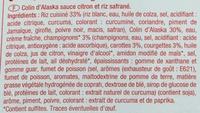 Colin d'Alaska sauce citron et riz safrané - Ingrédients - fr