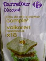Pain de mie Sandwich complet - Prodotto - fr