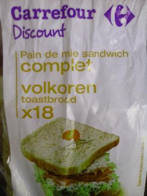 Pain de mie Sandwich complet - Prodotto