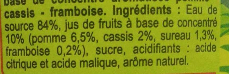 Saveur pomme cassis framboise - Ingrédients - fr