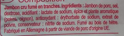 Jambon cru fumé - Ingrédients - fr