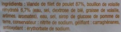 Blanc de poulet cuit au bouillon x 4 - Ingrédients - fr
